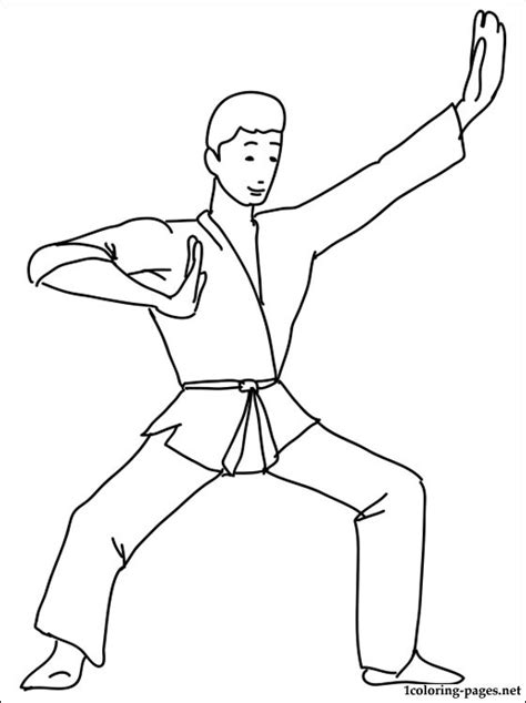 sports karate kid coloring pages print coloring
