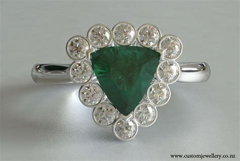 trillion emerald and engagement ring new zealand