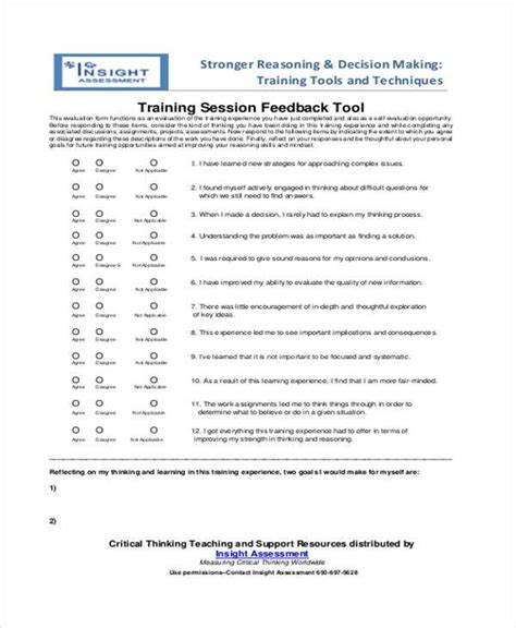 sle session feedback forms 8 free documents in word pdf