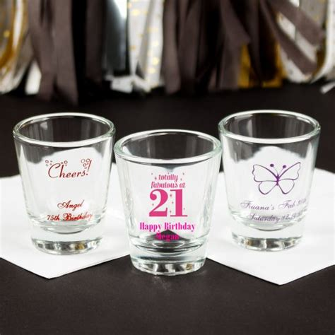 Bday Giveaways - personalized shot glasses shot glasses shot glass