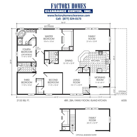 triple wide floor plans triple wide 4 bedroom manufactured homes