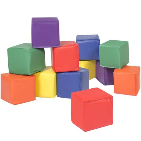 upholstery foam block bcp 12pc soft big foam blocks play set sensory gross motor