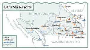 canada ski resort map columbia ski
