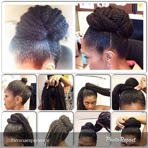 easy marley braid high bun natural hair tutorial youtube 10 more stunning natural hair pictorials marley hair bun