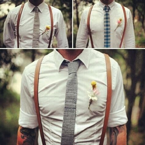 mens wedding attire with suspenders would to my groom groomsmen do the no jacket