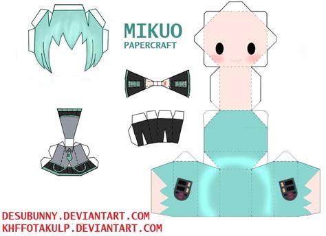 Papercraft Animation - mikuo papercraft by khffotakulp on deviantart