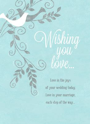 Wedding Congratulations Unable To Attend by Wishing You Wedding Congratulations Card Cardstore