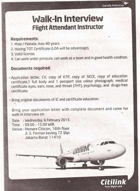 citilink flight attendant recruitment 2017 pt garuda indonesia persero tbk management trainee share