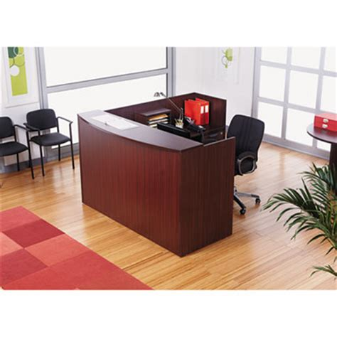 Reception Desk With Transaction Counter Alera Va327236my Valencia Series Reception Desk With Transaction Counter