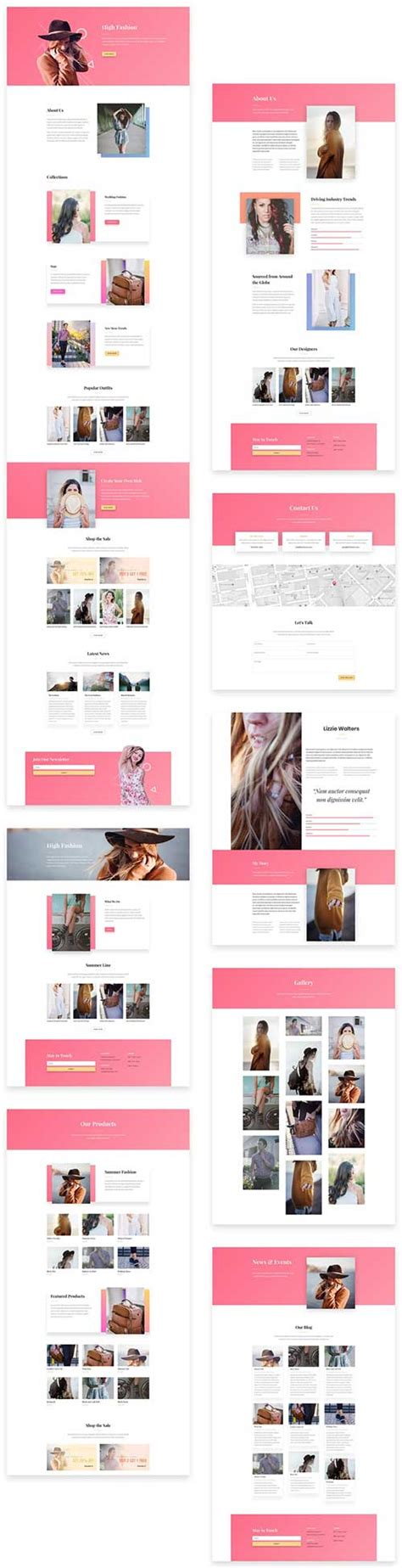 download layout divi download free divi theme layout for fashion business