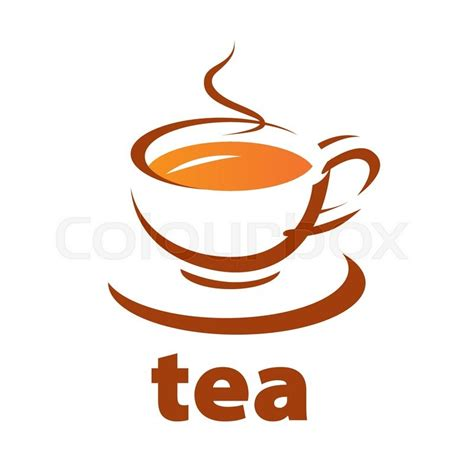 House Pla by Vector Logo Contour Cup Of Tea Stock Vector Colourbox