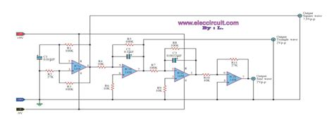 simple function generator using lm1458 electronic