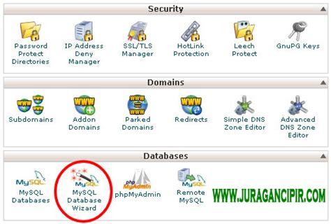 cara membuat database web di xp cara membuat database website di cpanel shared hosting