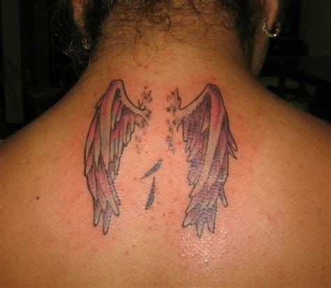 tattoo neck wings wings tattoo on neck