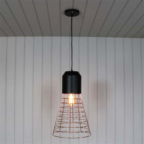 Wire Pendant Lighting Gold Wire Industrial Style Pendant Light Melody Maison 174