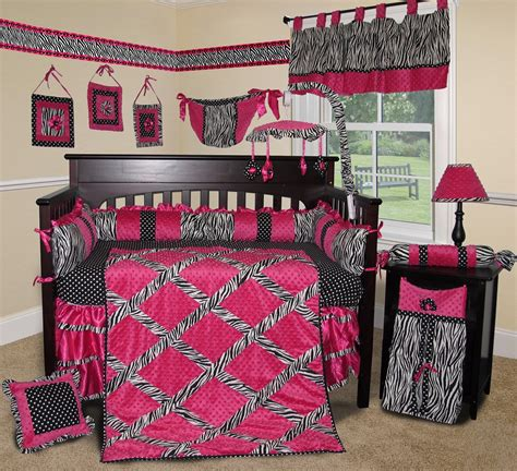 hot pink baby bedding baby boutique hot pink zebra 14 pcs crib bedding set incl l shade ebay