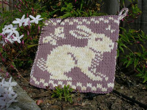 knitting pattern pot holder rabbit and butterflies potholder sg creations