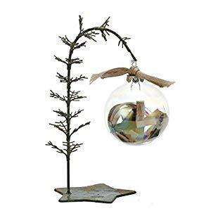 creative tree stands creativeco op 9 5 quot leaning tree ornament stand with base home kitchen
