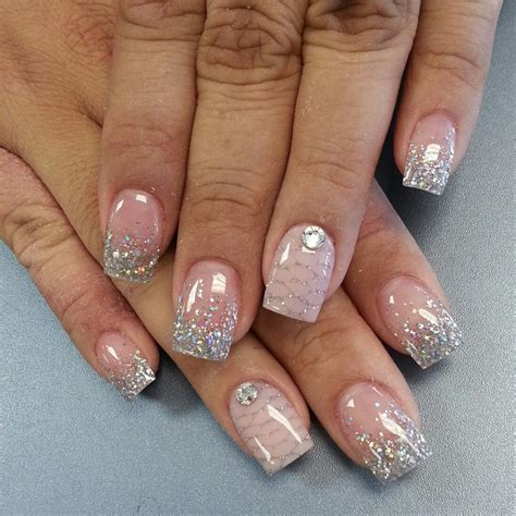 silver french manicure nails pinterest silver french