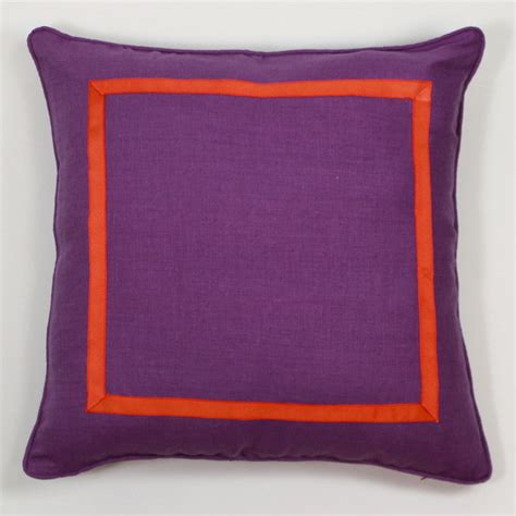 houzz pillows purple and orange pillow contemporary decorative