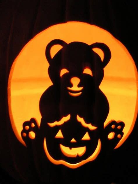 Decorated Fall Cakes - teddy bear jack o lantern beary crafty pinterest pumpkins love this and love