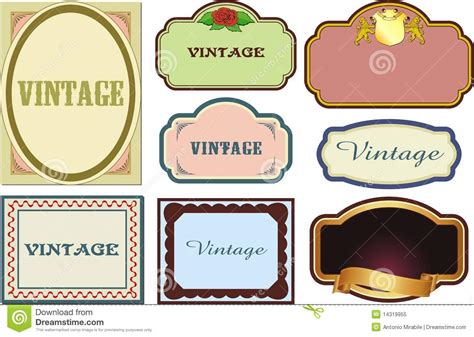 vintage labels royalty free stock photo image 14319955