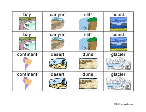 Bodies Of Water Worksheet by Landforms And Bodies Of Water Worksheet Lesupercoin