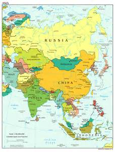 maps of asia and asia countries political maps