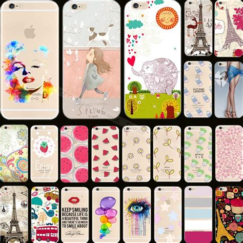 Op4905 Soft Pretty Painting For Iphone 6 6s W3 Kode Bi 1 cool pretty painting soft silicon phone back cover for apple iphone 6 4 7painted hollow design