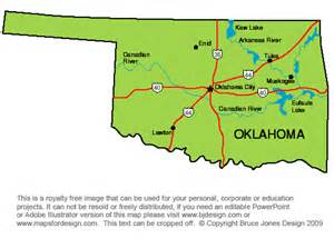 State Map Of Oklahoma by Pics Photos State Of Oklahoma