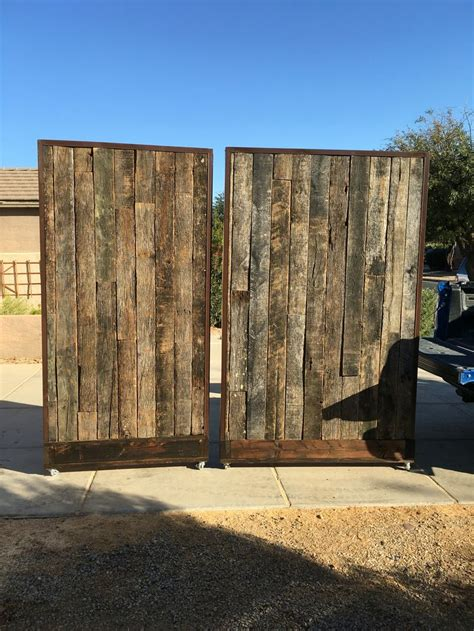 reclaimed wood divider reclaimed wood rolling walls partitions wood work