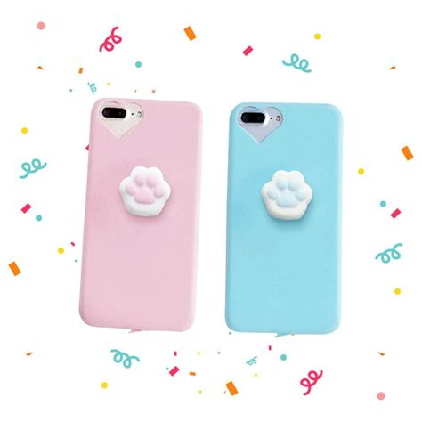Squishy Cat Claw For Iphone 6 6s Omscr7bl squishy cat claw for iphone 6 6s 7 plus kawaiimoristore