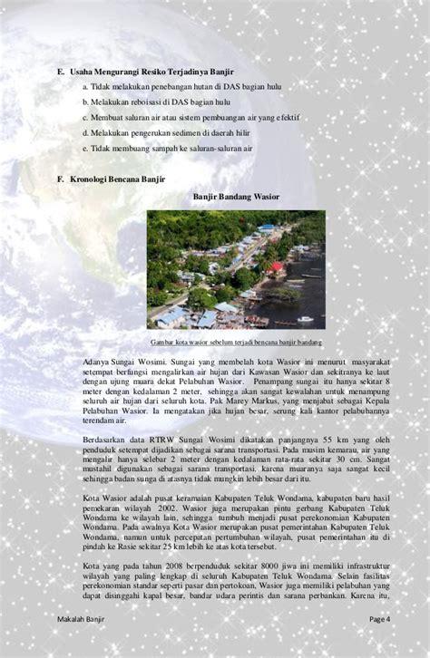membuat makalah tentang banjir makalah geo banjir