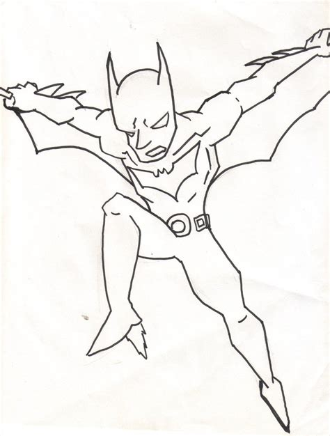 batman beyond coloring page by thepope1932 on deviantart