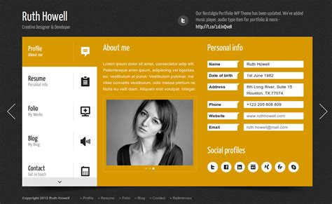 templates wordpress resume 20 th 232 mes wordpress cv vcard carte de visite