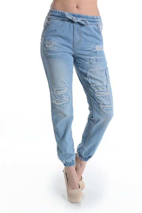 Jogger Cool Denim book of denim jogger in uk by emily playzoa