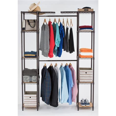 Expandable Closet Organizer by 84 In H Bronze Expandable Closet Organizer
