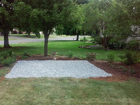 Shed Foundation Gravel by Storage Shed Foundation Package