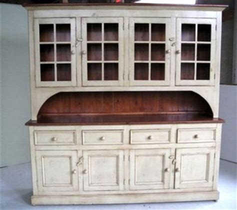Large Kitchen Buffet Hutch Country Style White Kitchen Hutch Ecustomfinishes