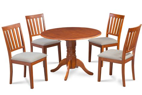 burlington dining table 42 quot burlington dinette dining table set soft padded seat chairs saddle brown dining sets