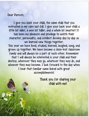 thank you letter to parents end of school year end of year parent thank you clipart end of year parent