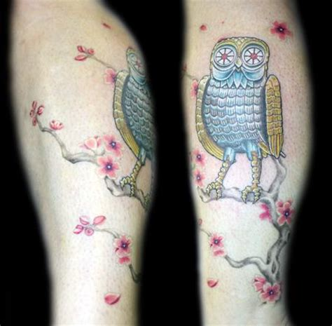 tattoo titans color clash of the owl by angela leaf tattoos