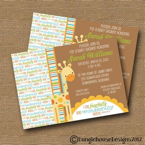 Christian Baby Shower Invitation Cards by Giraffe Baby Shower Invitation Diy Printable Baby Boy