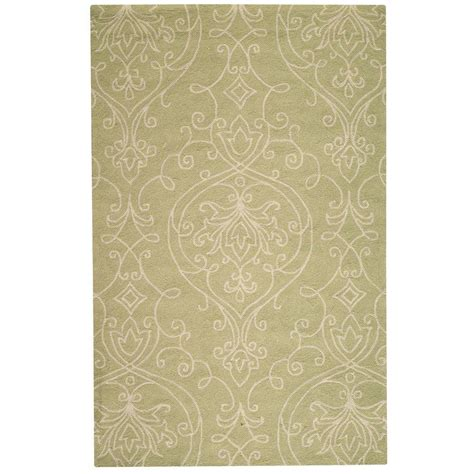 hypoallergenic area rugs home decorators collection kenilworth celery 8 ft x 10 ft area rug 0467240420 the home depot