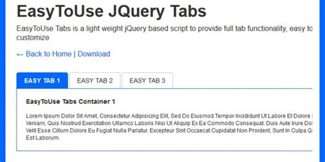 tab layout html css easy to use jquery tabs css jquery creative alive