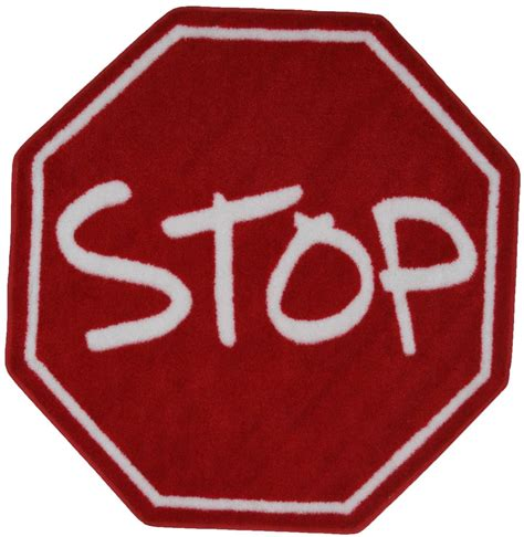 stop sign rug rugs time shape stop sign multi 3 3 quot rug clipart best clipart best