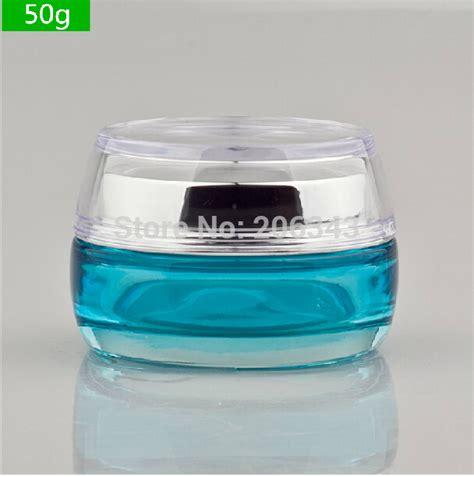 glass cream jar 50g gradiet blue glass jar cosmetic container jar cosmetic jar cosmetic packaging