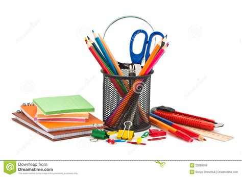 colorful office supplies royalty free stock image image miscellaneous office supplies royalty free stock image