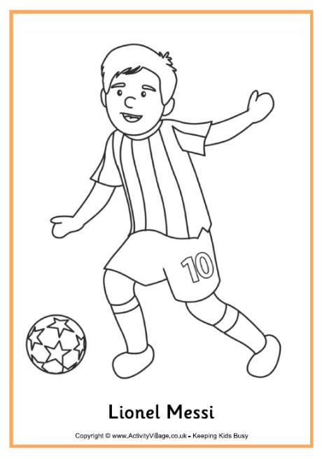 lionel messi colouring page
