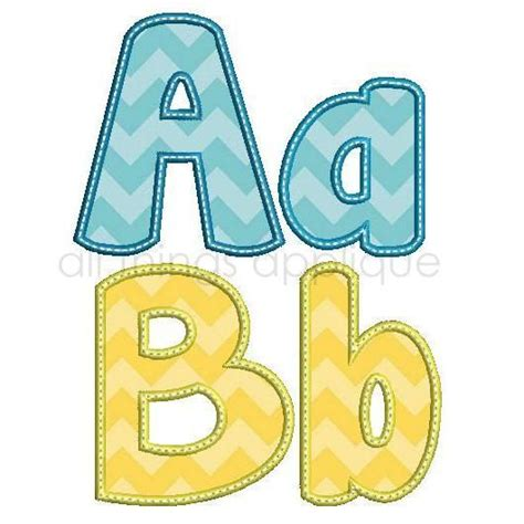 1000  ideas about Applique Letters on Pinterest   Machine Embroidery, Appliques and Fancy Fonts